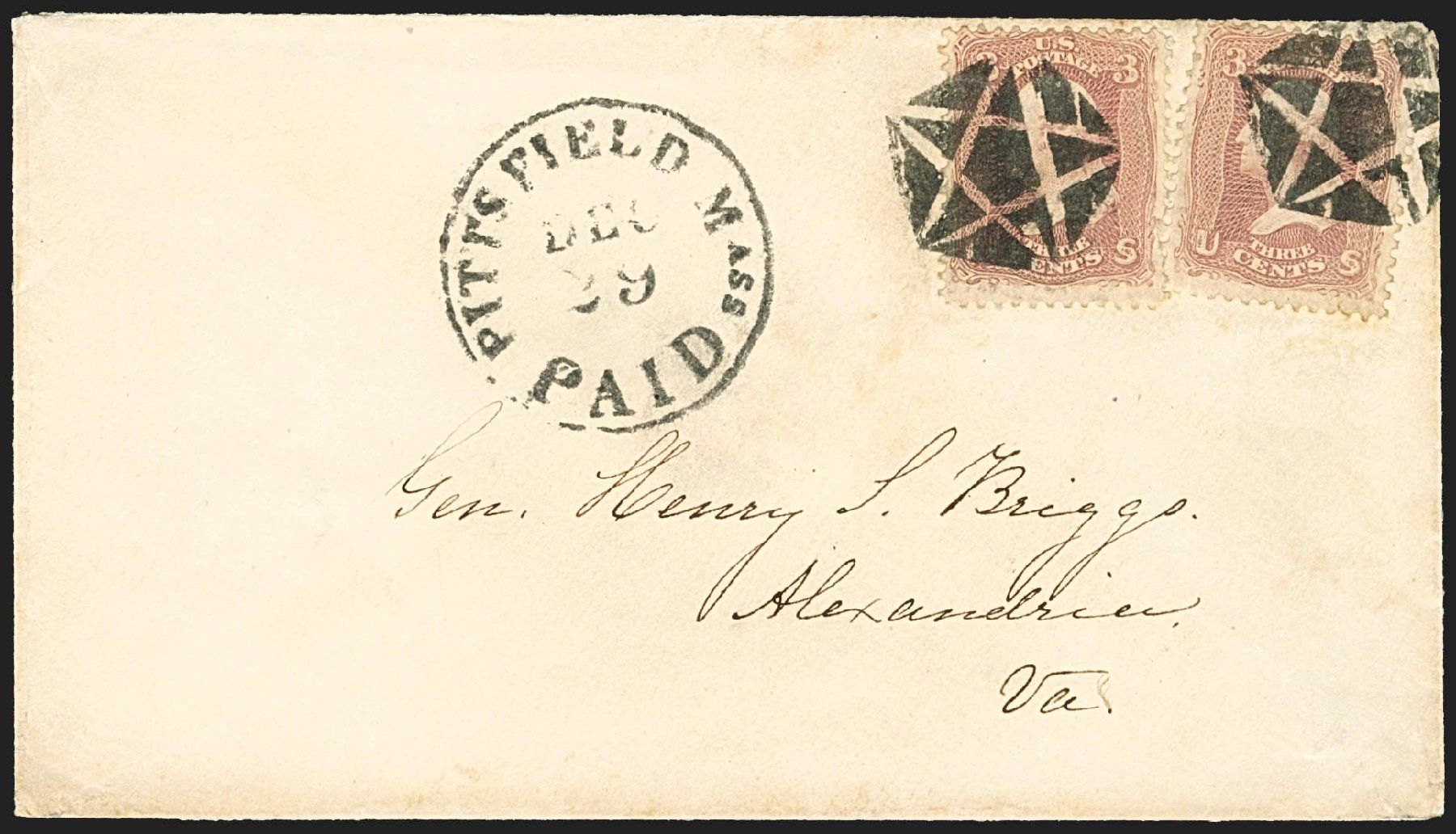 Price of US Stamps Scott Cat. 65: 3c 1861 Washington. Robert Siegel Auction Galleries, Jul 2015, Sale 1107, Lot 170