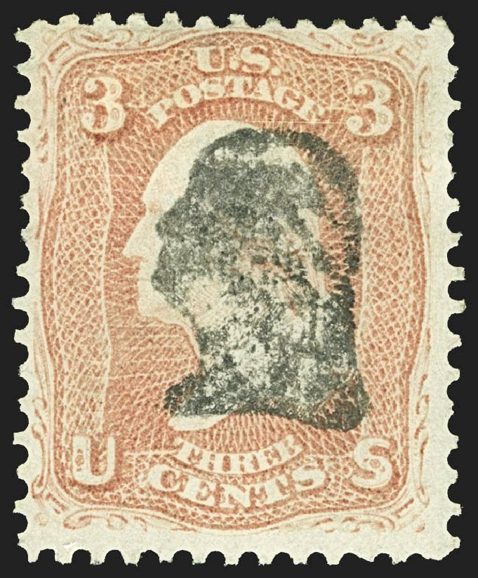 US Stamps Value Scott Cat. #65: 3c 1861 Washington. Robert Siegel Auction Galleries, Jul 2015, Sale 1107, Lot 144