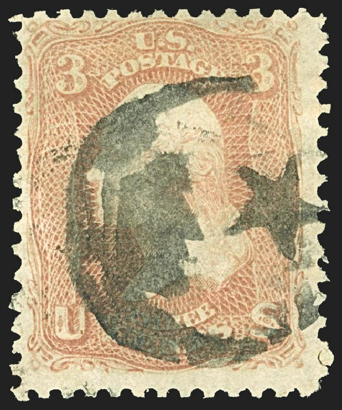 Price of US Stamps Scott Cat. 65 - 1861 3c Washington. Robert Siegel Auction Galleries, Jul 2015, Sale 1107, Lot 145