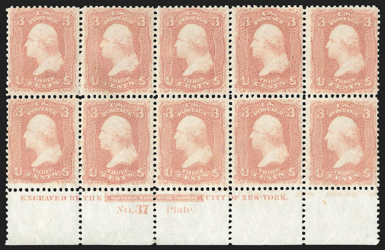 Price of US Stamp Scott Catalogue 65 - 1861 3c Washington. Robert Siegel Auction Galleries, Jul 2015, Sale 1107, Lot 122
