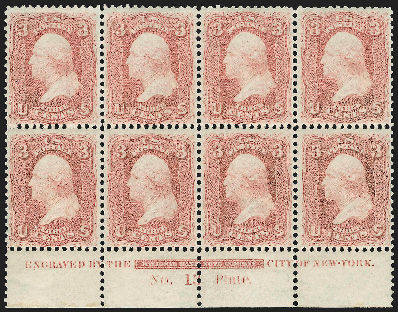Costs of US Stamps Scott Catalog # 65 - 1861 3c Washington. Robert Siegel Auction Galleries, Jul 2015, Sale 1107, Lot 123