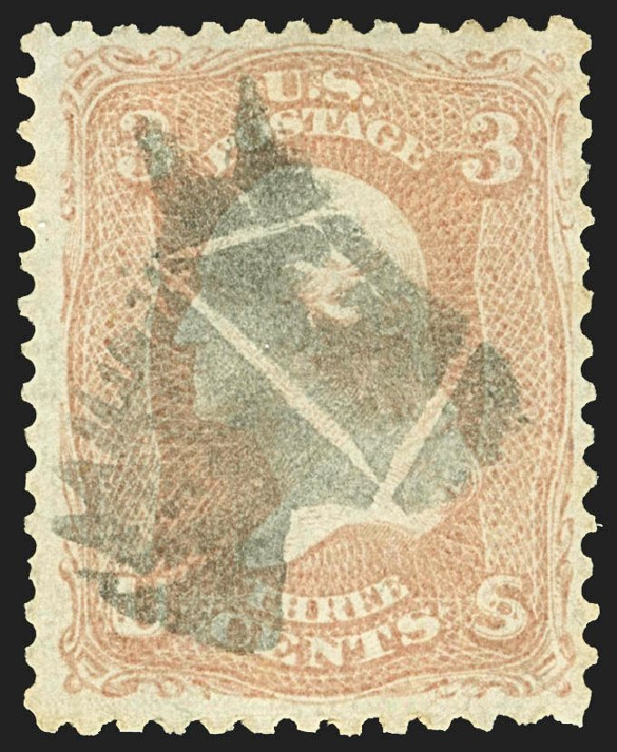 US Stamp Value Scott Cat. 65 - 1861 3c Washington. Robert Siegel Auction Galleries, Jul 2015, Sale 1107, Lot 146