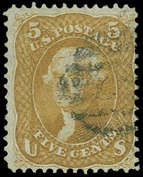 US Stamp Value Scott #67 - 5c 1861 Jefferson. H.R. Harmer, Jun 2015, Sale 3007, Lot 3130