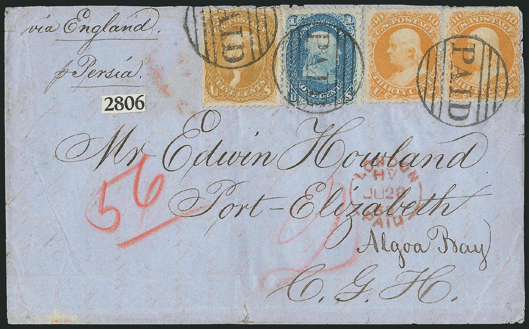 Value of US Stamp Scott 67: 1861 5c Jefferson. Robert Siegel Auction Galleries, Jun 2015, Sale 1105, Lot 2605