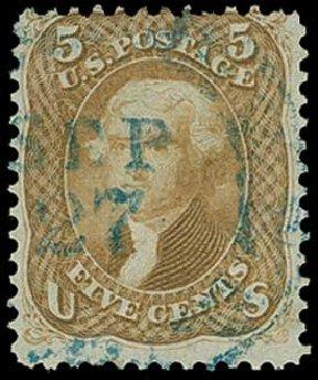 Cost of US Stamp Scott Catalogue 67: 1861 5c Jefferson. H.R. Harmer, Jun 2015, Sale 3007, Lot 3132