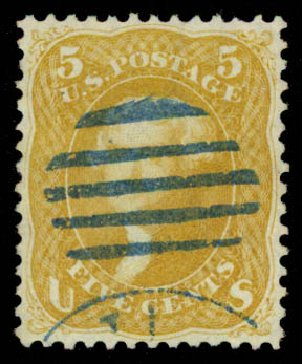 Price of US Stamp Scott Catalogue # 67 - 5c 1861 Jefferson. Daniel Kelleher Auctions, May 2015, Sale 669, Lot 2503
