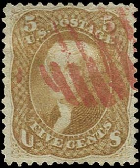 US Stamp Value Scott Catalogue # 67 - 1861 5c Jefferson. Regency-Superior, Aug 2015, Sale 112, Lot 153