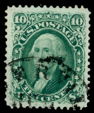 US Stamps Value Scott Catalogue 68: 1861 10c Washington. Daniel Kelleher Auctions, May 2015, Sale 669, Lot 2507