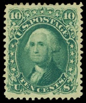 Price of US Stamp Scott Cat. # 68 - 10c 1861 Washington. Daniel Kelleher Auctions, Dec 2014, Sale 661, Lot 88