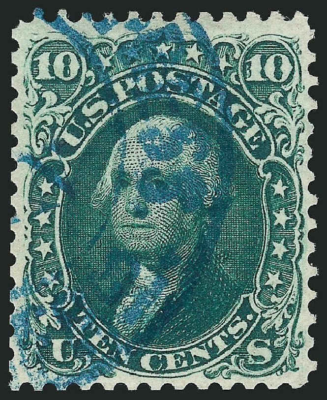 Price of US Stamps Scott Catalogue #68 - 1861 10c Washington. Robert Siegel Auction Galleries, Sep 2014, Sale 1078, Lot 160