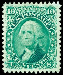 Value of US Stamps Scott Catalog # 68 - 10c 1861 Washington. Schuyler J. Rumsey Philatelic Auctions, Apr 2015, Sale 60, Lot 2031