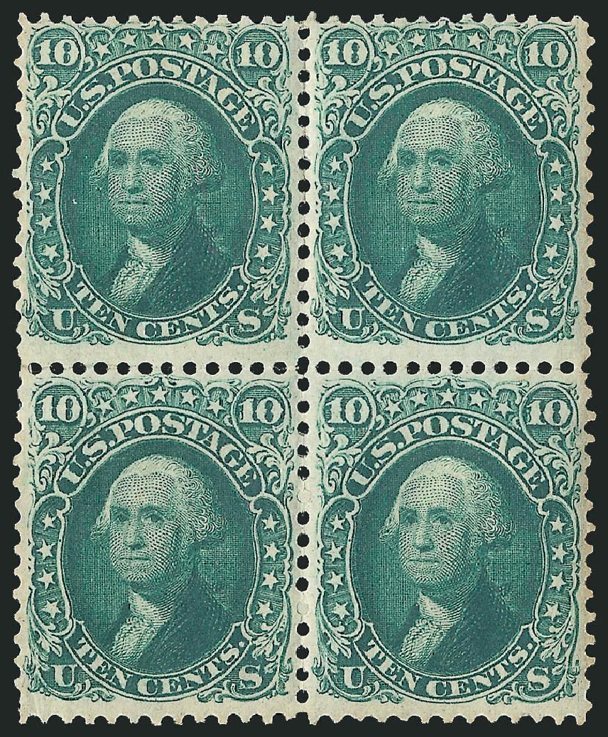 US Stamp Values Scott Catalogue #68: 1861 10c Washington. Robert Siegel Auction Galleries, Apr 2015, Sale 1096, Lot 132