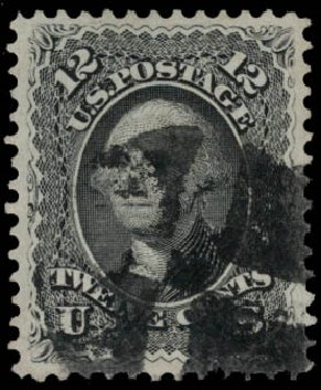 US Stamps Value Scott Catalog #69 - 1861 12c Washington. Daniel Kelleher Auctions, May 2015, Sale 669, Lot 2509