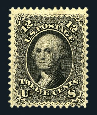 US Stamps Values Scott Catalogue #69: 1861 12c Washington. Harmer-Schau Auction Galleries, Aug 2015, Sale 106, Lot 1400