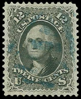 Cost of US Stamps Scott Catalog #69 - 1861 12c Washington. H.R. Harmer, Jun 2015, Sale 3007, Lot 3134