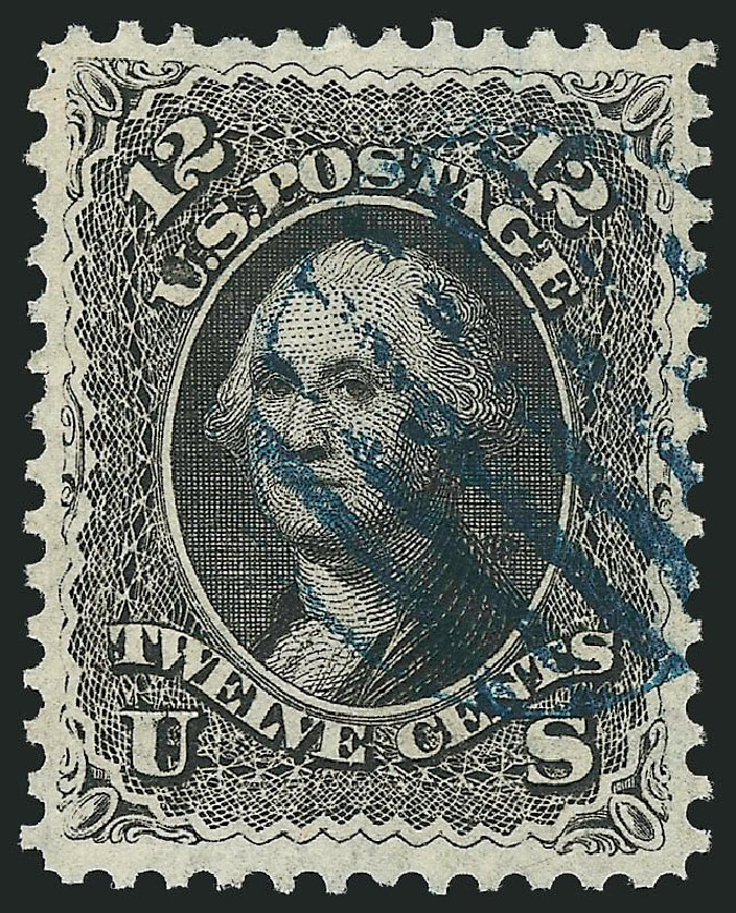 US Stamp Prices Scott #69: 1861 12c Washington. Robert Siegel Auction Galleries, Apr 2015, Sale 1096, Lot 134