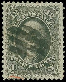 Prices of US Stamps Scott Catalog 69: 1861 12c Washington. H.R. Harmer, Jun 2015, Sale 3007, Lot 3135