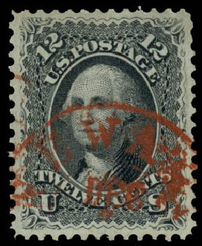 Values of US Stamps Scott # 69: 1861 12c Washington. Daniel Kelleher Auctions, Aug 2015, Sale 672, Lot 2256