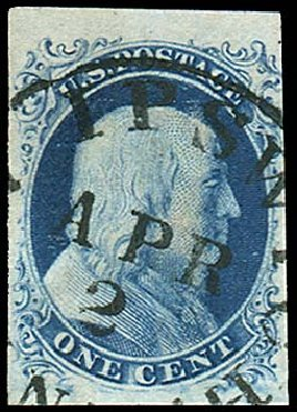 Costs of US Stamp Scott #7: 1c 1851 Franklin. Regency-Superior, Aug 2015, Sale 112, Lot 57