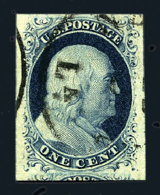 Price of US Stamps Scott Cat. 7: 1851 1c Franklin. Harmer-Schau Auction Galleries, Aug 2015, Sale 106, Lot 1268
