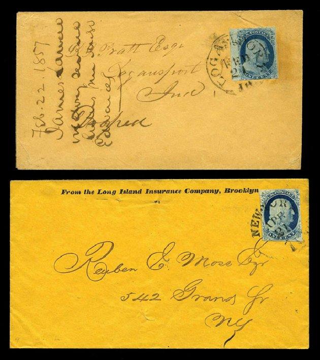 Values of US Stamps Scott #7 - 1c 1851 Franklin. Harmer-Schau Auction Galleries, Aug 2015, Sale 106, Lot 1274