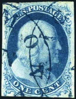 Us Stamps Price Scott Catalog 7 1851 1c Franklin