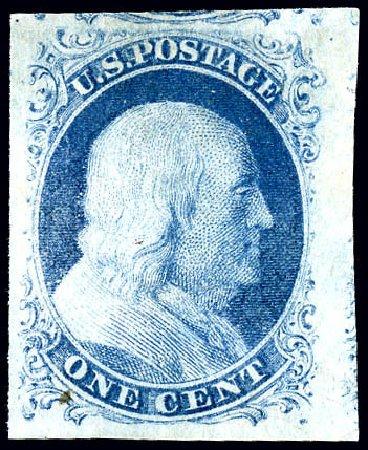 Us Stamps Value Scott Cat 7 1c 1851 Franklin