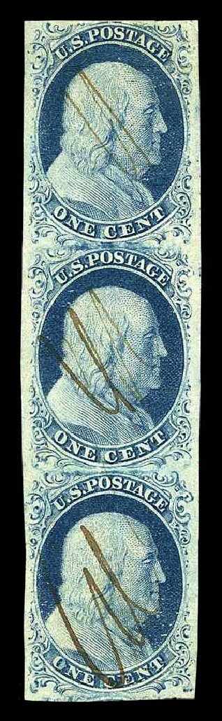 US Stamp Prices Scott # 7 - 1c 1851 Franklin. Harmer-Schau Auction Galleries, Aug 2015, Sale 106, Lot 1272