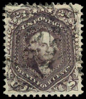 Cost of US Stamps Scott #70: 24c 1861 Washington. Daniel Kelleher Auctions, Aug 2015, Sale 672, Lot 2257