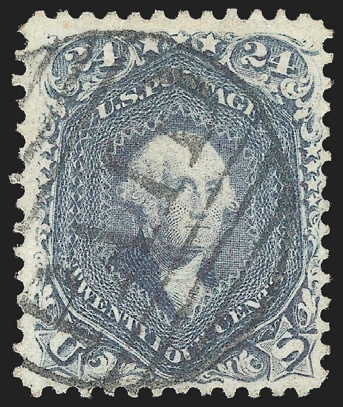 Cost of US Stamps Scott Catalog 70 - 24c 1861 Washington. Robert Siegel Auction Galleries, Jul 2015, Sale 1107, Lot 127