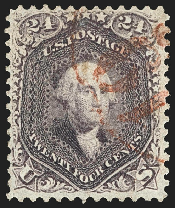 Value of US Stamp Scott Cat. #70: 24c 1861 Washington. Robert Siegel Auction Galleries, Jul 2015, Sale 1107, Lot 128