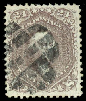 Cost of US Stamp Scott Cat. 70: 1861 24c Washington. Daniel Kelleher Auctions, Aug 2015, Sale 672, Lot 2259