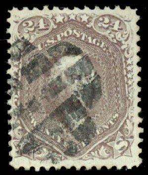 Cost of US Stamp Scott Cat. 70: 1861 24c Washington. Daniel Kelleher Auctions, Aug 2015, Sale 672, Lot 2259