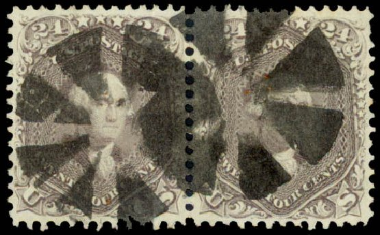 Values of US Stamps Scott #70 - 24c 1861 Washington. Daniel Kelleher Auctions, Aug 2015, Sale 672, Lot 2260