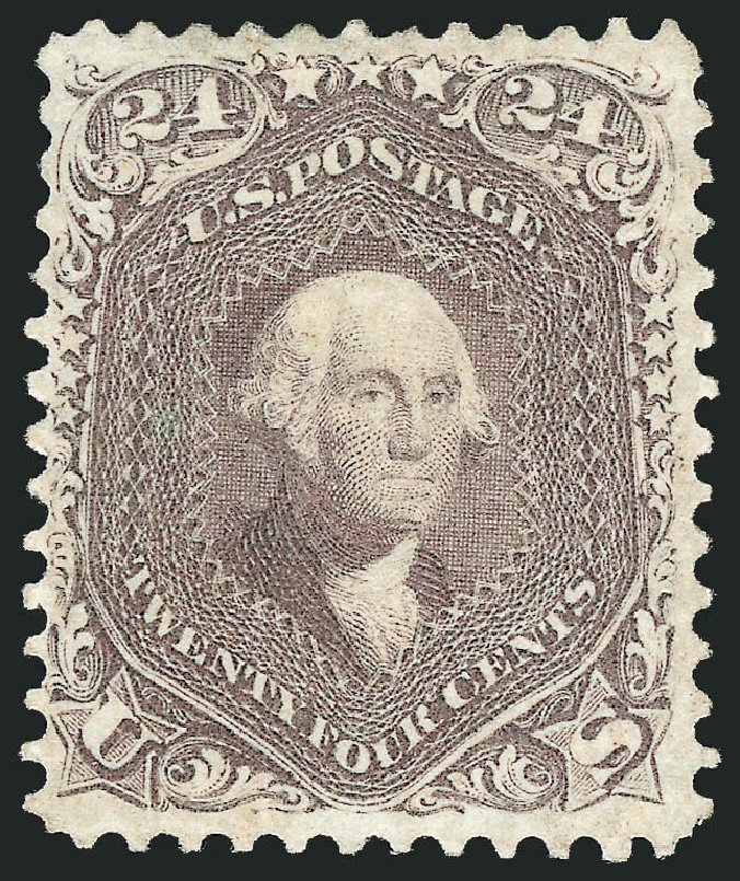US Stamp Values Scott Cat. #70 - 24c 1861 Washington. Robert Siegel Auction Galleries, Jun 2015, Sale 1100, Lot 11