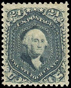 US Stamp Price Scott Catalog # 70 - 24c 1861 Washington. Regency-Superior, Aug 2015, Sale 112, Lot 164