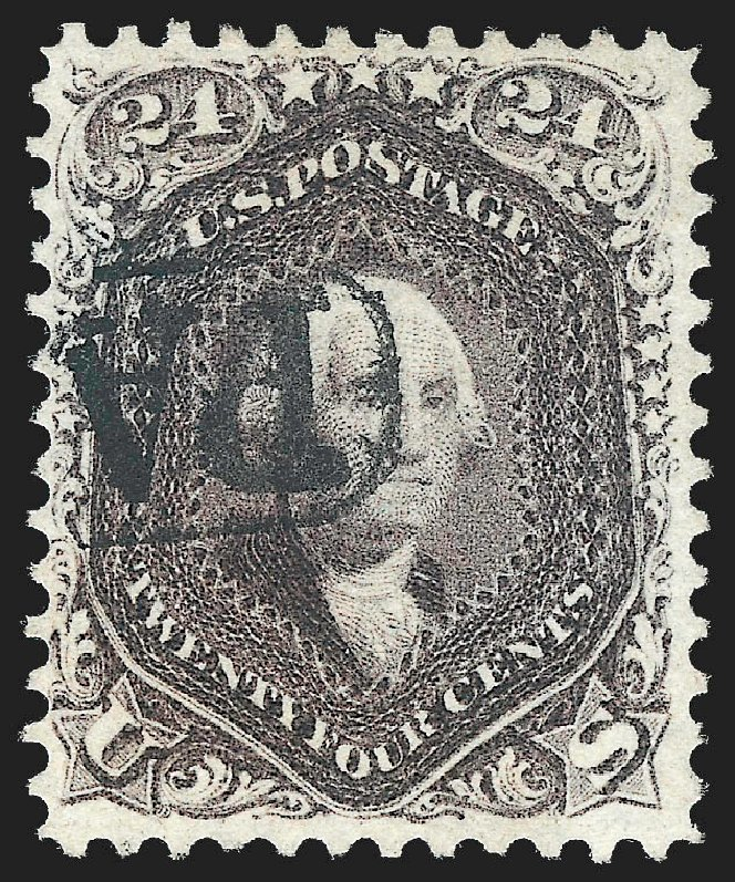 US Stamps Value Scott Catalogue # 70 - 24c 1861 Washington. Robert Siegel Auction Galleries, Jul 2015, Sale 1107, Lot 125