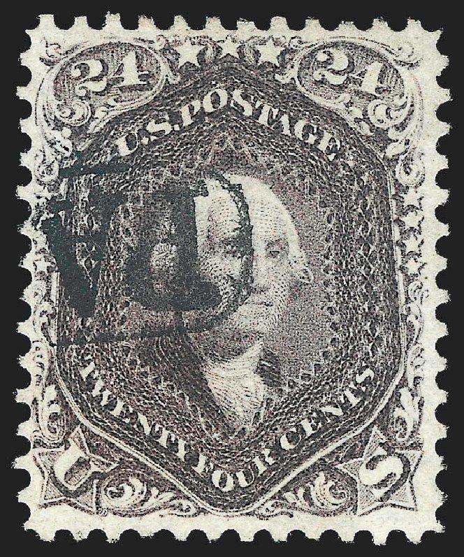 US Stamps Value Scott Catalogue # 70 - 24c 1861 Washington. Robert Siegel Auction Galleries, Jul 2015, Sale 1107, Lot 125