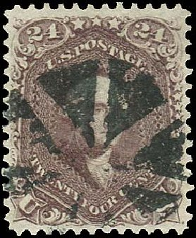 US Stamps Prices Scott Cat. 70: 1861 24c Washington. Regency-Superior, Aug 2015, Sale 112, Lot 162