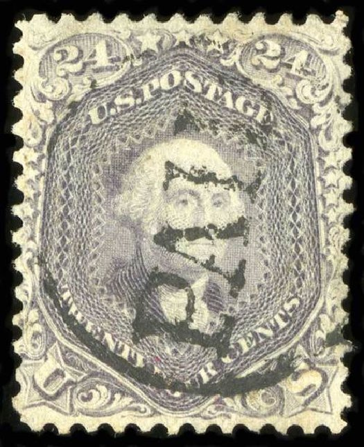 US Stamps Price Scott #70: 1861 24c Washington. Spink Shreves Galleries, Jul 2015, Sale 151, Lot 73