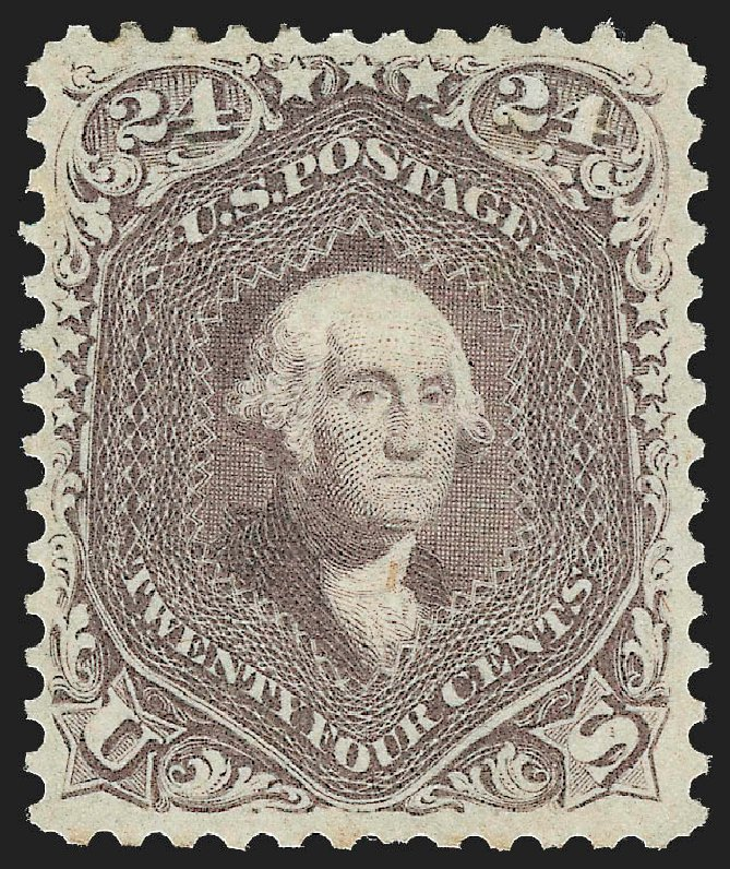 Prices of US Stamps Scott Catalog #70 - 1861 24c Washington. Robert Siegel Auction Galleries, Jul 2015, Sale 1107, Lot 126