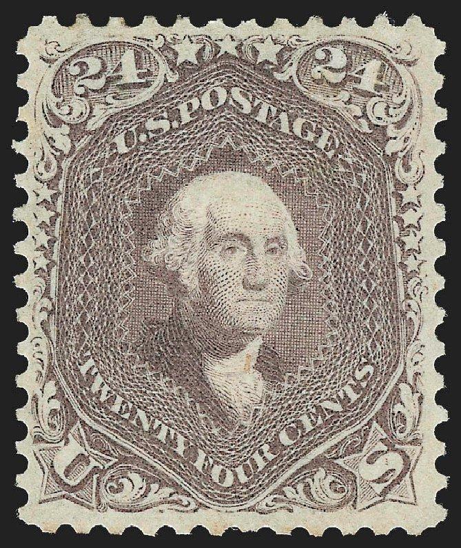 Prices of US Stamps Scott Catalog #70 - 1861 24c Washington. Robert Siegel Auction Galleries, Jul 2015, Sale 1107, Lot 126