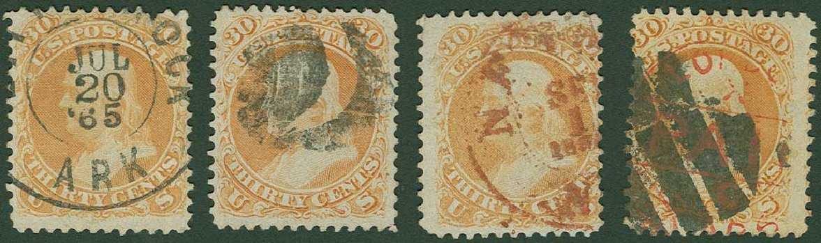 US Stamp Prices Scott # 71: 30c 1861 Franklin. H.R. Harmer, Jun 2015, Sale 3007, Lot 3140