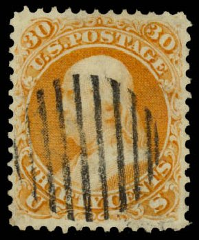 Costs of US Stamps Scott # 71: 1861 30c Franklin. Daniel Kelleher Auctions, Aug 2015, Sale 672, Lot 2263
