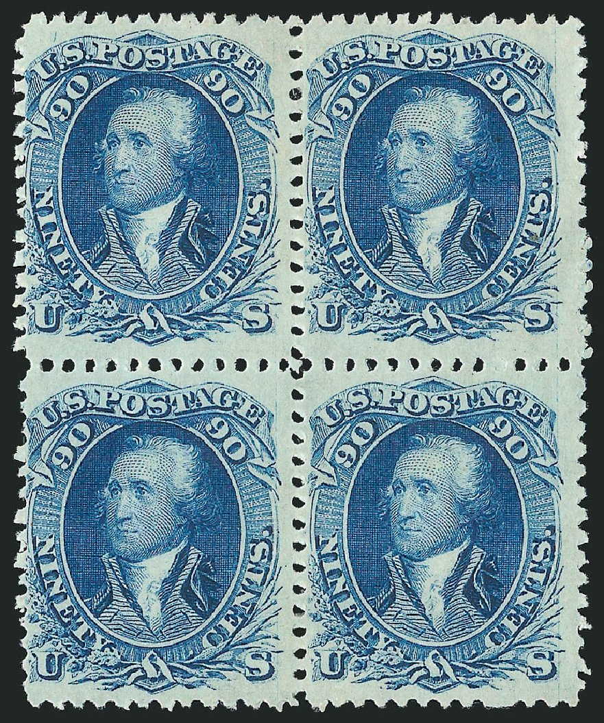 Costs of US Stamps Scott Catalogue # 72 - 1861 90c Washington. Robert Siegel Auction Galleries, Apr 2015, Sale 1096, Lot 139