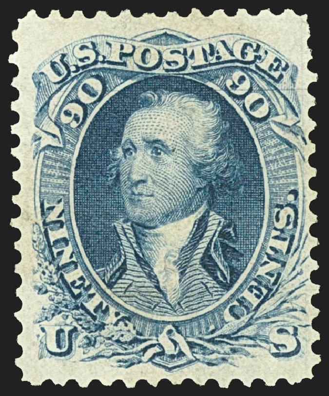 Value of US Stamps Scott Cat. 72 - 90c 1861 Washington. Robert Siegel Auction Galleries, Jul 2015, Sale 1107, Lot 130