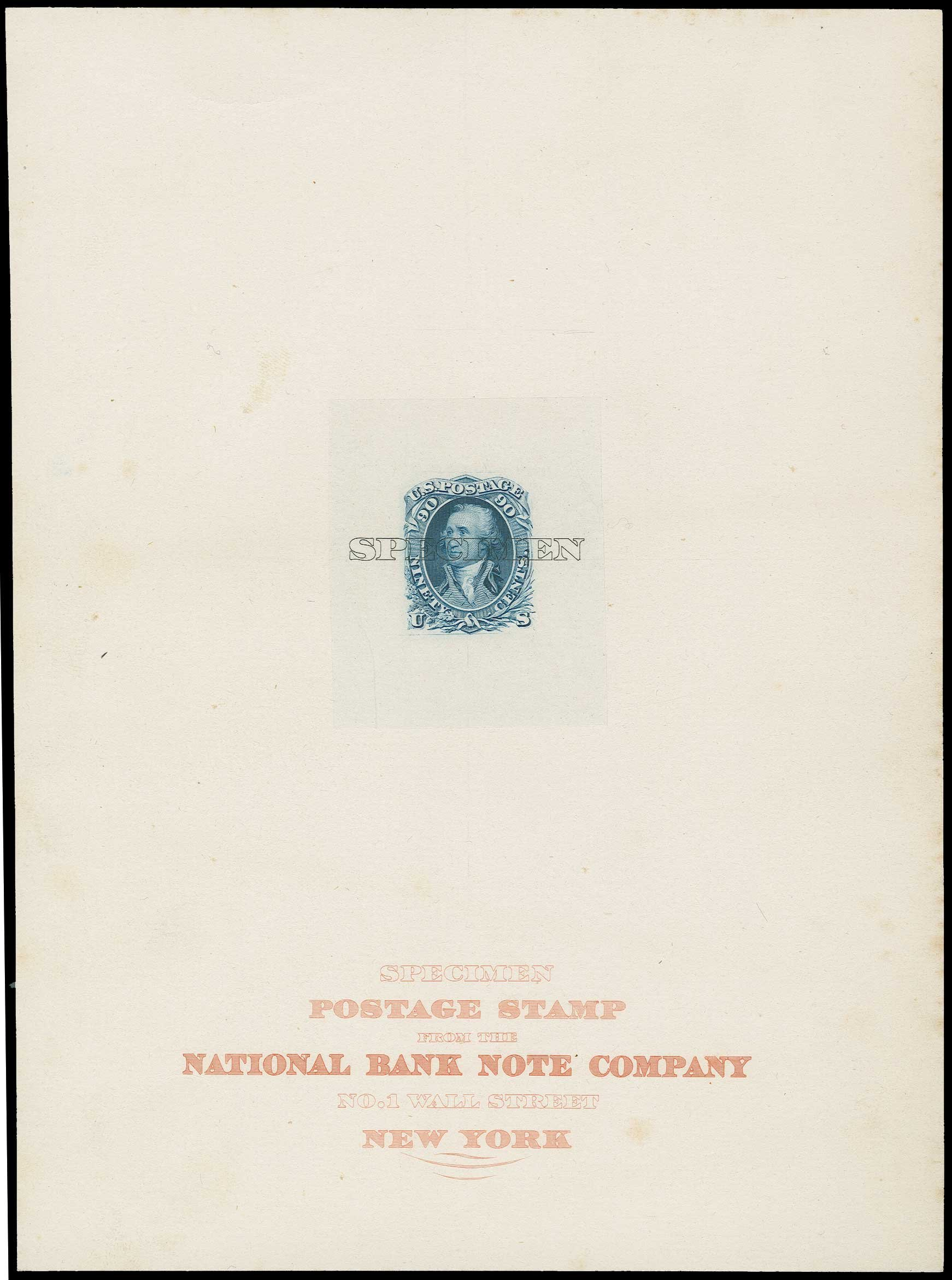 US Stamps Price Scott # 72 - 90c 1861 Washington. H.R. Harmer, Jun 2015, Sale 3007, Lot 3021