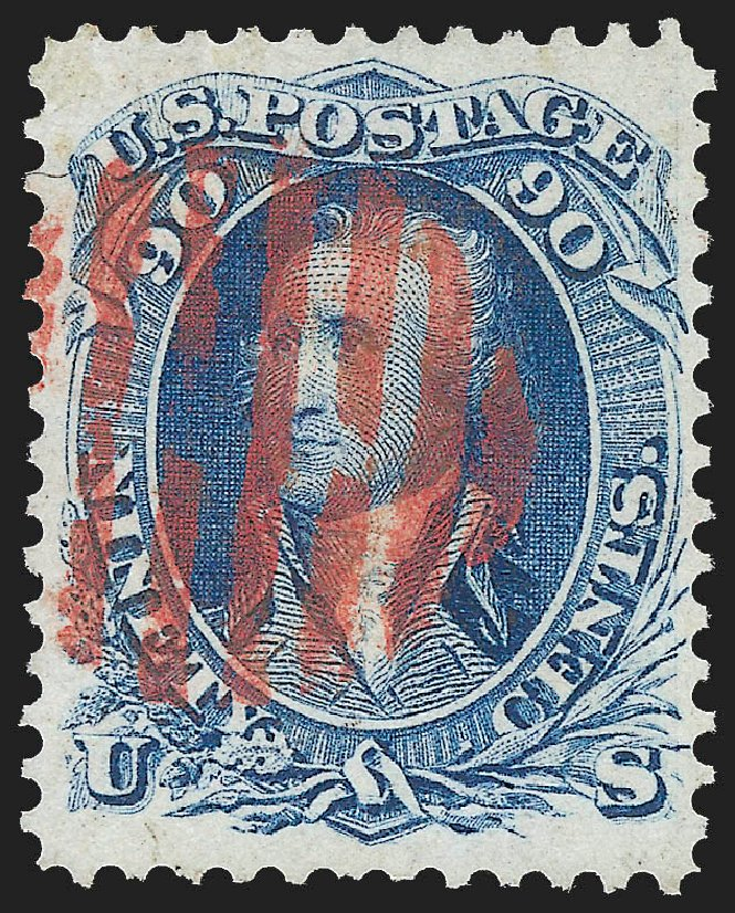 Costs of US Stamp Scott Cat. #72 - 1861 90c Washington. Robert Siegel Auction Galleries, Jul 2015, Sale 1107, Lot 131