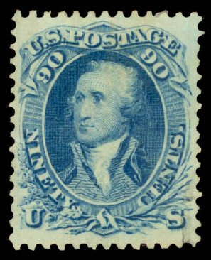 Price of US Stamps Scott Catalogue # 72 - 1861 90c Washington. Daniel Kelleher Auctions, Aug 2015, Sale 672, Lot 2264