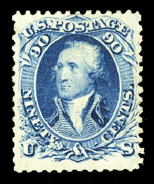 US Stamp Price Scott Catalogue #72: 1861 90c Washington. Cherrystone Auctions, Jul 2015, Sale 201507, Lot 2035